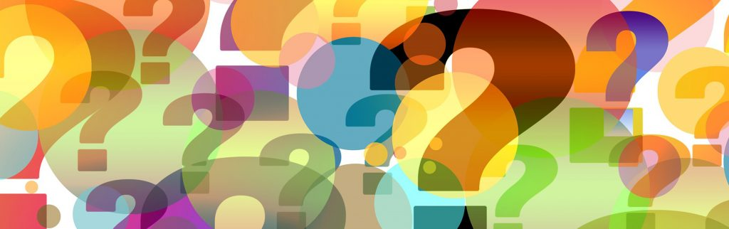 coloured question marks